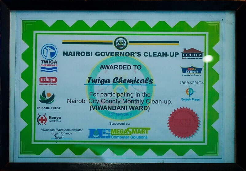 Awards and Recognition - Twiga Chemical Industries Ltd