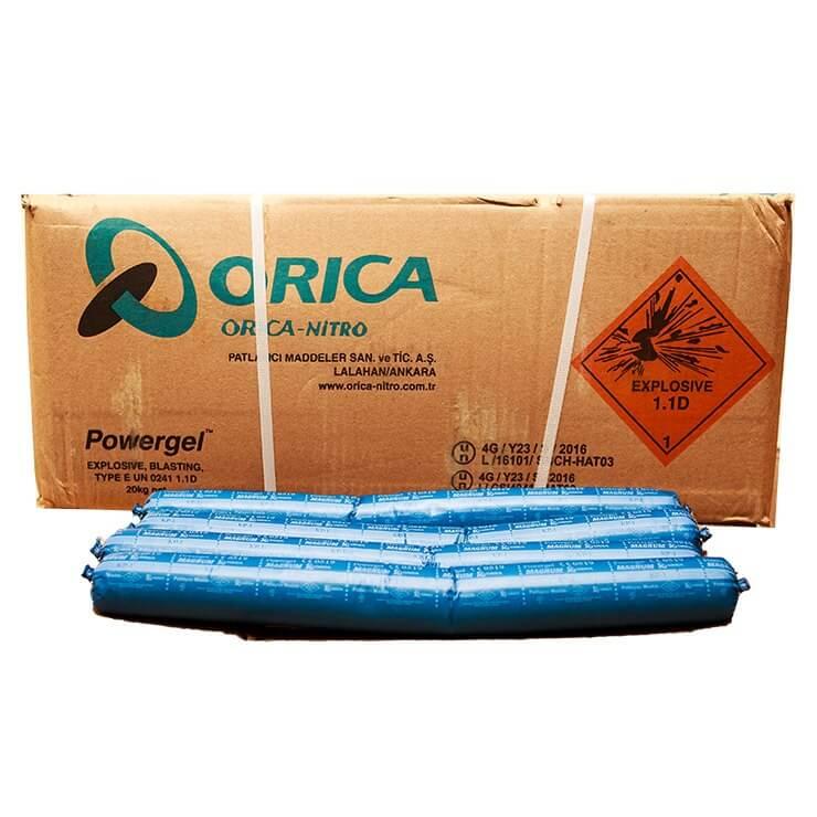 Orica Powergel Magnum Blue Commercial Explosive